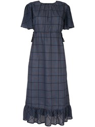 Guild Prime Hybrid Check Midi Dress Blue