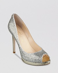 Ivanka Trump Peep Toe Evening Platform Pumps Maggie2 High Heel