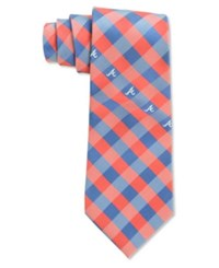Eagles Wings Atlanta Braves Checked Tie Red Blue