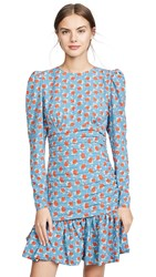 Essentiel Antwerp Tree Structured Mini Dress Reef Water