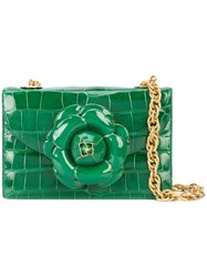 Oscar De La Renta Gardenia Flower Detail Cross Body Bag 60