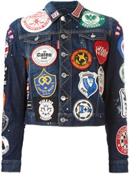 Dsquared2 Patch Applique Denim Jacket Blue