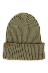 Herschel Men's Supply Co. 'Cast' Knit Cotton Beanie Green Cotton Army