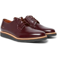 Common Projects Glossed Leather Derby Shoes Burgundy
