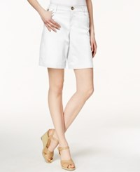 Charter Club 7' Twill Shorts Only At Macy's Bright White