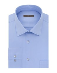Geoffrey Beene Long Sleeve Point Collar Shirt Blue