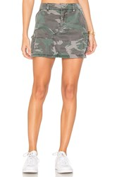Pam And Gela Cargo Pocket Skirt Green
