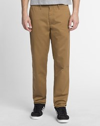 Carhartt Washed Light Brown Regular Fit Tapered Johnson Cortez Chinos