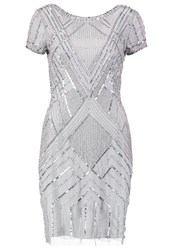 Adrianna Papell Cocktail Dress Party Dress Blue Mist Silver