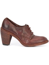 Guidi Distressed Lace Up Bootie Brown