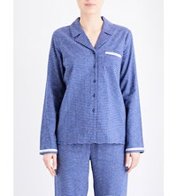 Calvin Klein Check Print Cotton Flannel Pyjama Top Um7 Illuminated Check