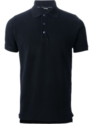 Kiton Short Sleeve Polo Shirt Blue