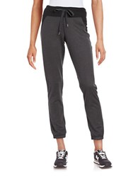 Steve Madden Colorblock Jogger Pants Charcoal Black
