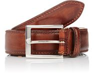 Harris Men's Burnished Smooth Leather Belt Brown