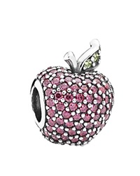 Pandora Design Pandora Charm Sterling Silver Cubic Zirconia And Crystal Red Apple Pave Moments Collection Red Green