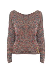 Smash Ladeira Openwork Knitted Sweater Multi Coloured