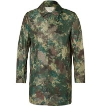 Mackintosh Slim Fit Camouflage Print Shell Raincoat Green