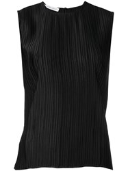 Christian Wijnants Sleeveless Pleated Top Women Polyester 38 Black