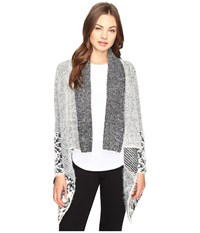 Christin Michaels Embry Long Sleeve Fuzzy Cardigan Grey Women's Sweater Gray