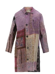 By Walid Rufus Chinese Embroidery Silk Coat Black Multi