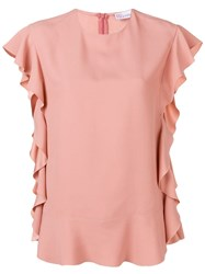 Red Valentino Ruffle Trimming Top Neutrals