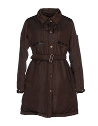 Piquadro Coats And Jackets Down Jackets Women Dark Brown