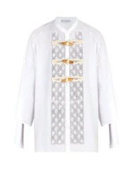 J.W.Anderson Broderie Anglaise Cotton Shirt White