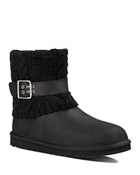 Ugg Cassidee Sweater Cuff Booties Black