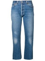 Re Done Stove Pipe Jeans Blue