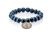 Miracle Icons Men's Beaded Charm Bracelet Blue
