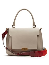 Anya Hindmarch Bathurst Circle Small Leather Bag Grey Multi