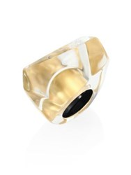 Alexis Bittar Large Faceted Lucite Cocktail Ring Gold