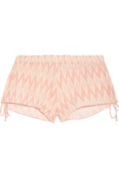 Eberjey Morgan Printed Voile Shorts Blush
