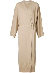 Tomas Maier Belted Cardi Coat Nude And Neutrals