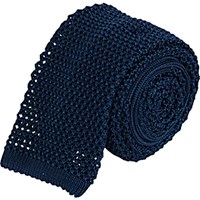 Barneys New York Men's Crochet Neck Tie Navy