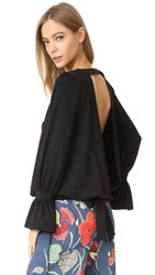 Susana Monaco Backless Top Black