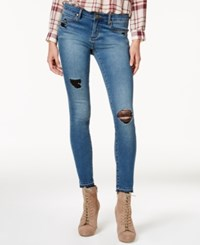 Articles Of Society Sara Released Hem Distressed Skinny Jeans Mason