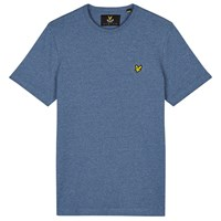 Lyle And Scott Three Colour Mouline Crew Neck T Shirt Blue Steel