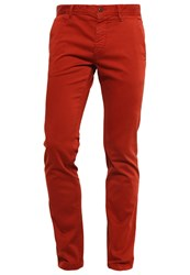 Boss Orange Chinos Rust Copper Dark Red