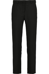Goat Rocky Wool Crepe Straight Leg Pants Black