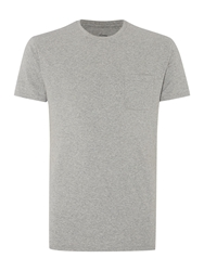 Linea Austin Short Sleeve Crew Neck Pocket T Shirt Light Grey