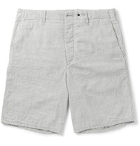Rag And Bone Striped Cotton Shorts Gray