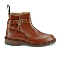 Knutsford By Tricker's Women's Leather Buckle Detail Ankle Boots Marron Brown
