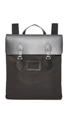 The Cambridge Satchel Company Canvas Steamer Backpack Black