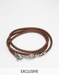 Simon Carter Wing Leather Wrap Bracelet In Brown Brown