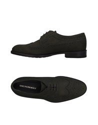 Bruno Magli Lace Up Shoes Green