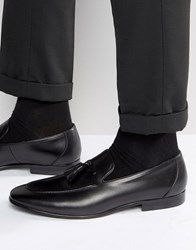 Dune Result Suede Tassel Loafers Black