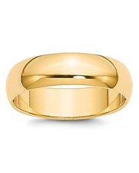 Bloomingdale's 6Mm Half Round Band Ring In 14K Yellow Gold 100 Exclusive