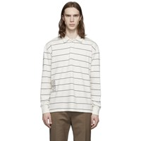 Wood Wood Off White Beck Long Sleeve Polo