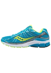 Saucony Jazz 17 Cushioned Running Shoes Blue Citron Grey